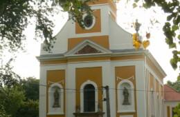 Bükkösd, Rk. templom homlokzatfelújítása